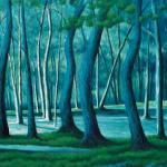 BLUE WOODS  20 x 30  oil/linen   SOLD